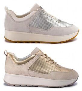 GEOX-RESPIRA-GENDRY-D925TB-scarpe-donna-sneakers-pelle-camoscio-zeppa-tessuto