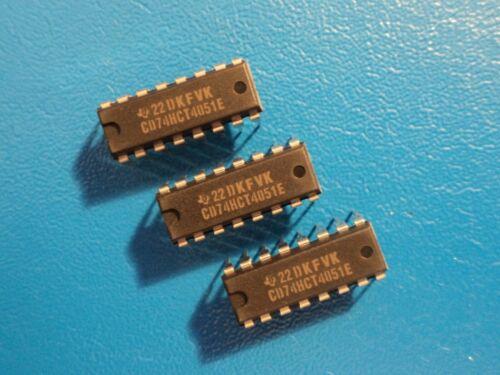 Texas CD74HCT4051E Analogique Multiplexeur//démultiplexeur 16PIN Qty = 3