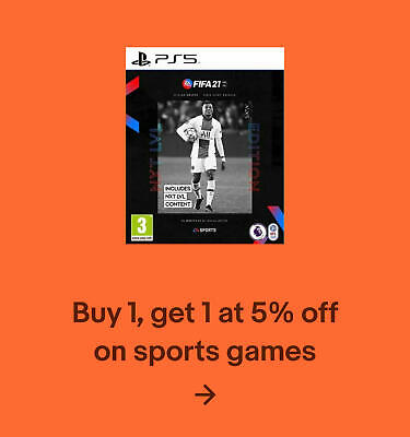 Buy 1, get 1 at 5% off on sports games