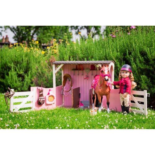 GRANDE nostra generazione Cavallo Stabile-Bambole Fattoria Pony Playset Accessori Giocattolo Regalo