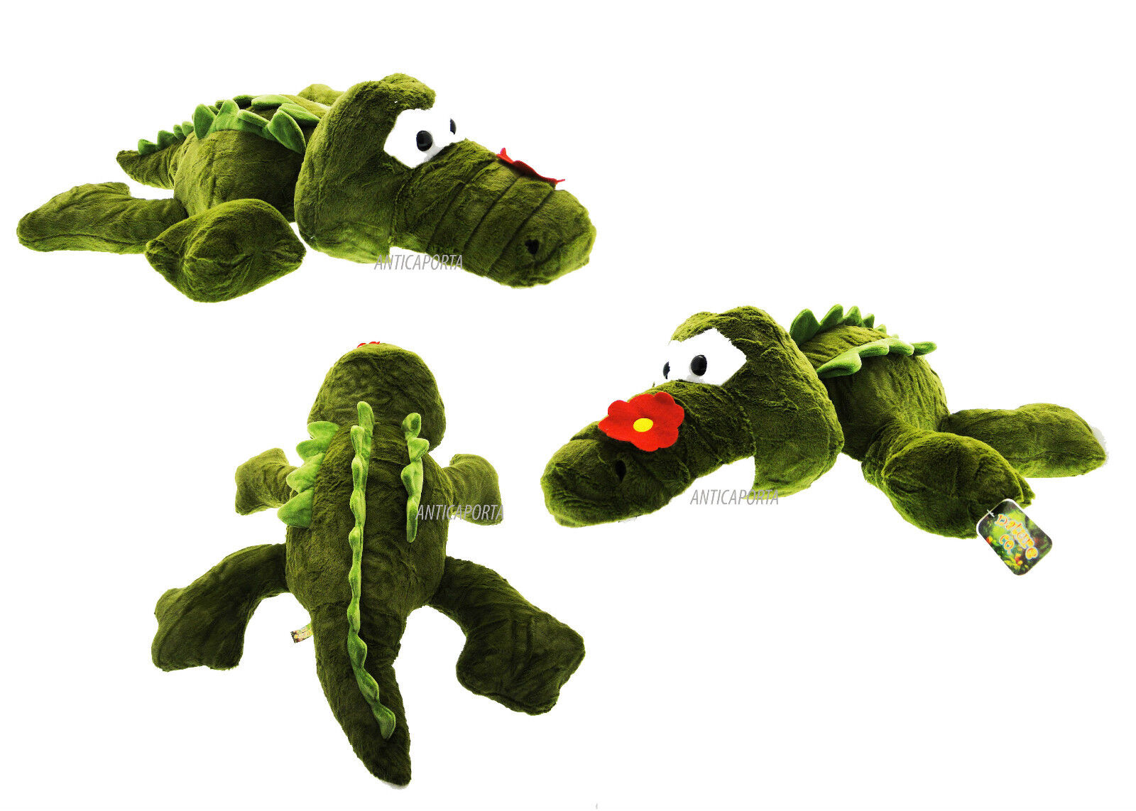 Soft toy Crocodile Giant Huge and Softest Big eyes 85 cm Green with flower