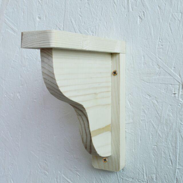 Pair Set Of 2 Wooden Shelf Brackets Rack Support