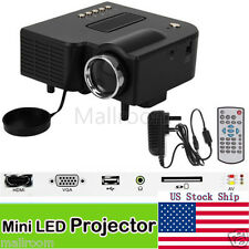HD 1080P LED Multimedia Mini Projector Home Theater Cinema VGA HDMI USB SD US