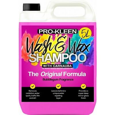 Pro-Kleen Professional Wash and Wax Car Shampoo pH Neutral 5L Fast Delivery