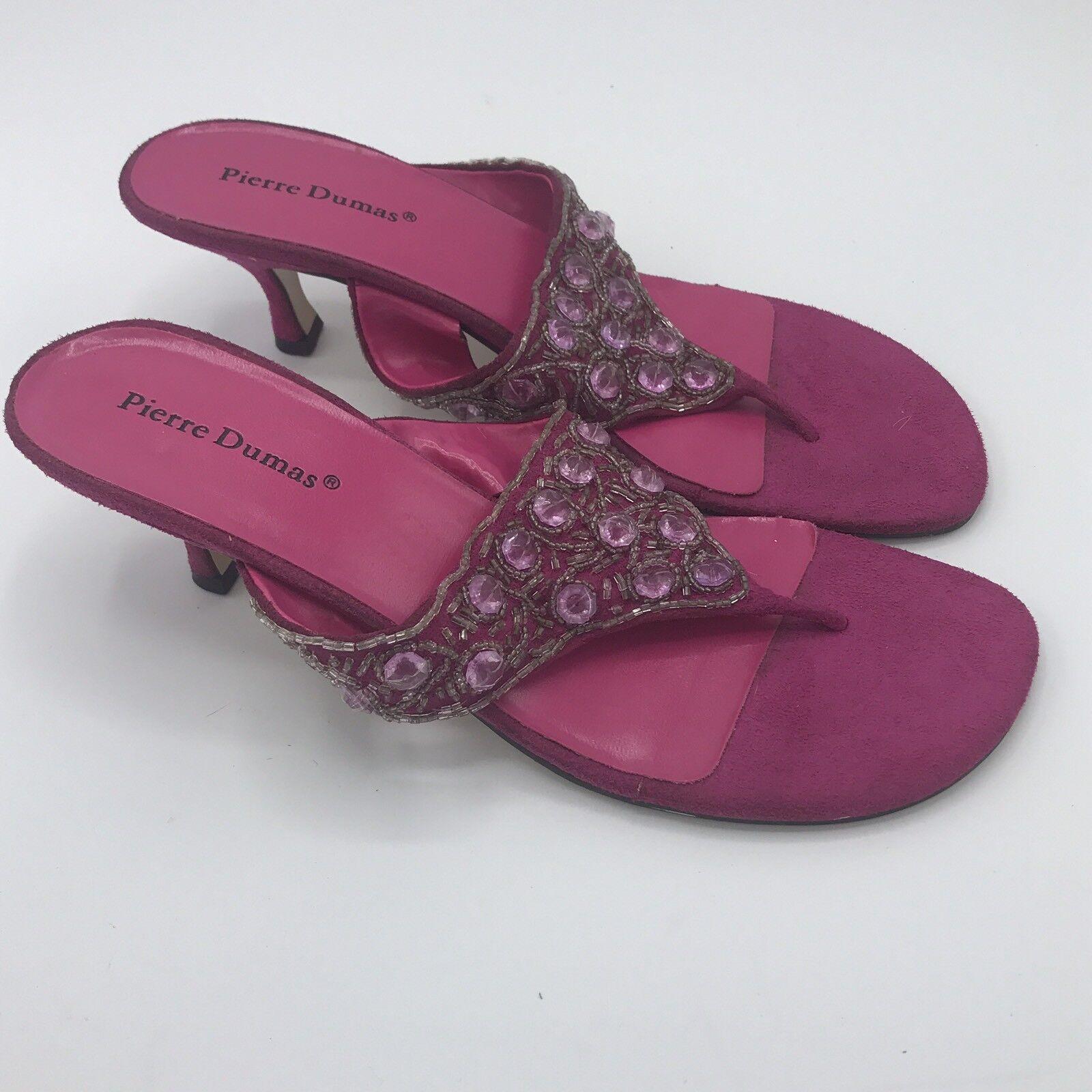 Pierre Dumas Women's Shoes Rosetta Thong Cork Pink Slide Sandal Thong Rosetta Sz 9 Flip Flop 040340