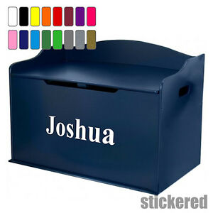 Boys Personalised Name Toy Box Vinyl Sticker Decal For