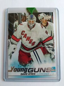 DAVID-AYRES-SP-YOUNG-GUNS-RC-2019-20-UD-SP-AUTHENTIC-ROOKIE-CARD-HURRICANES-2