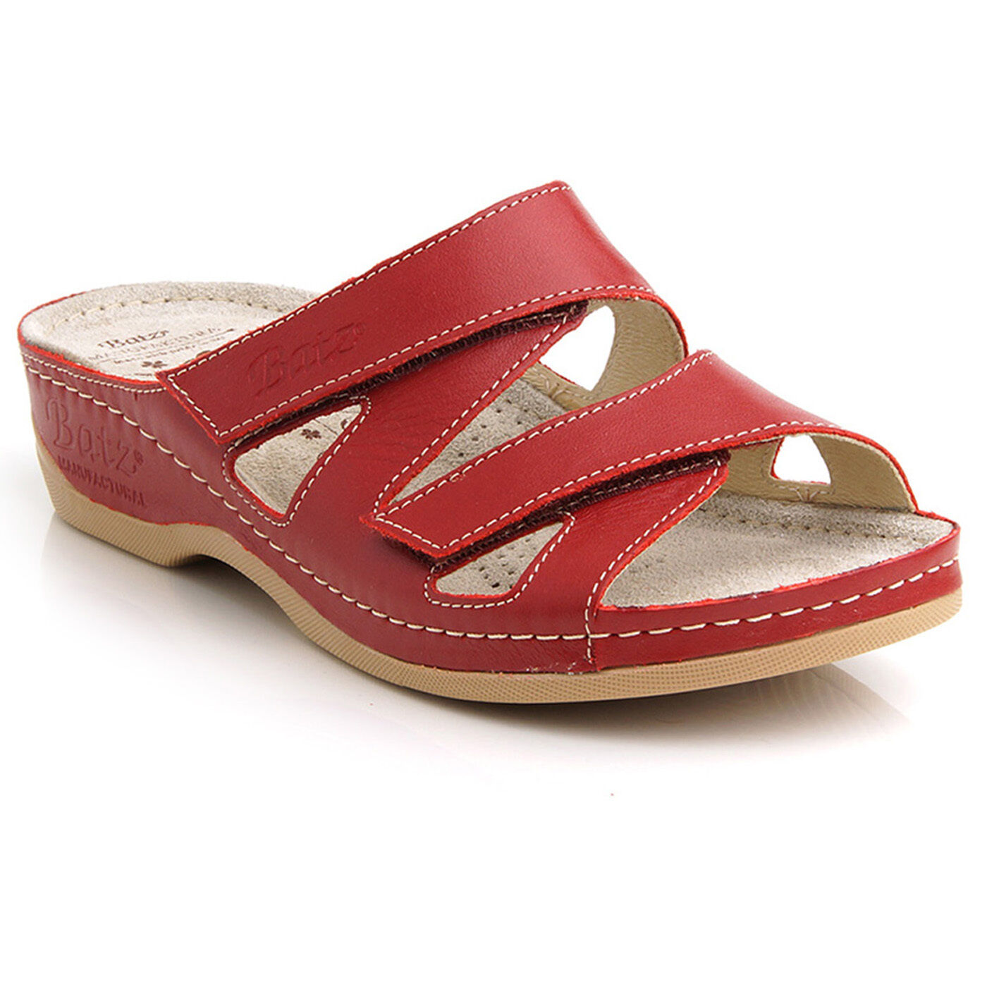 Batz ENI ROT Top Quality Handmade Leder Sandale Clogs Mules Damens EU 36-41