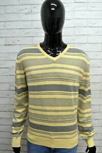 Maglione-Uomo-MARLBORO-CLASSICS-Taglia-XL-Cardigan-Grigio-Pullover-Sweater