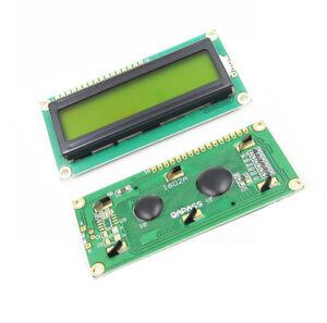 1602-16X2-Hd44780-pantalla-LCD-de-caracteres-Lcm-Modulo-De-Luz-De-Fondo-Amarillo-Nuevo