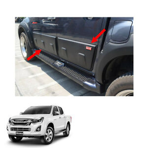 Side Molding Body Cladding Matte Black 4 Pc For Isuzu D Max