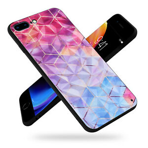 Diamond-Glass-Back-Cover-Phone-Case-Fit-Apple-iPhone-7-8-Plus-X-XS-Max-XR