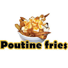Poutine Fries Concession Decal Sign Cart Trailer Stand Sticker Equipment