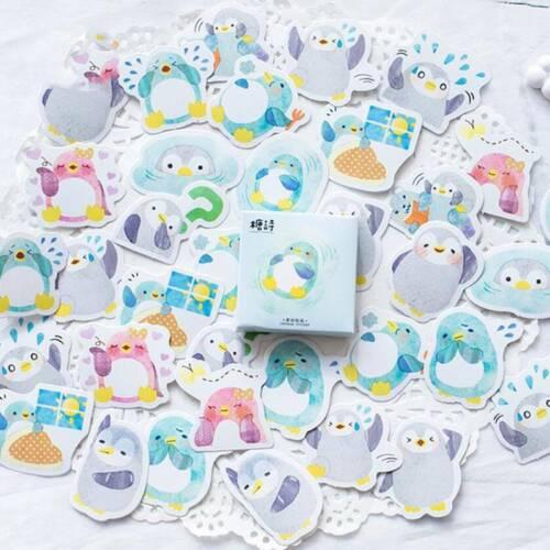 Penguin Stickers DIY Scrapbook Album Diary Book Decor Planner Paper Stickers Q