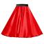 Girls-SATIN-Rock-n-Roll-Skirt-UK-1950s-Costume-Grease-Fancy-dress-ROCKABILLY thumbnail 2