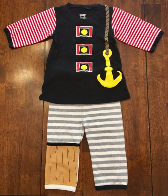 Stephan Baby Boy 2 Piece Pirate Outfit Size 12 18 Months For Sale Online Ebay