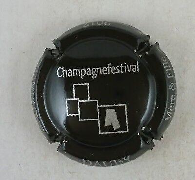capsule champagne DAUBY mère et fille champagne festival 2017 noir et argent