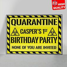 Quarantine Personalised Birthday Print Wall Decor Gift Poster A5 A4 A3 A2 A1
