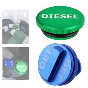 Diesel Green Fuel Cap Amp Blue Def Cap For 2013 2017 Dodge