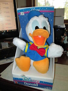 "Disney Donald Duck Plush Toy 11"" Stuffed Animal Mattel NRFB RARE AND MINT"
