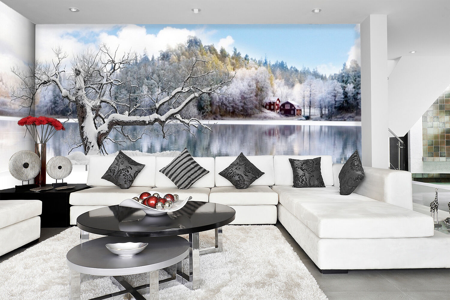3D Lake Snow Scenery 2332 Paper Wall Print Wall Decal Wall Deco Indoor Murals