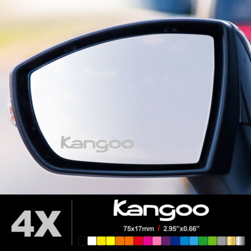 RENAULT KANGOO WING MIRROR ETCHED GLASS CAR VINYL DECALS STICKERS SILVER ETCH