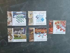 2014-PORTUGAL-INTERNATIONAL-YEAR-OF-CRYSTALLOGRAPHY-SET-5-MINT-STAMPS-MNH