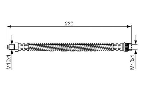 Bremsschlauch für Bremsanlage Hinterachse BOSCH 1 987 481 090