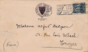 Lettre-Portland-United-State-Five-Cents-France-Cover-Brief