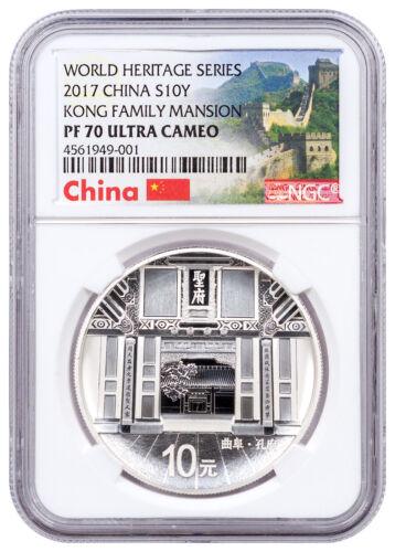 2017 China Heritage Kong Mansion 30 g Silver Proof Y10 NGC PF70 UC ER SKU48539