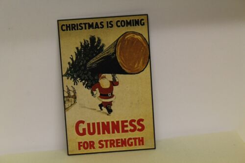 Metal Sign CHRISTMAS GUINNESS DOLLS HOUSE