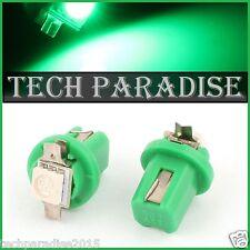 6x Ampoule B8.5D BX8.5D BAX10D ( T5 sur culot ) LED SMD Vert Green Neo Wedge