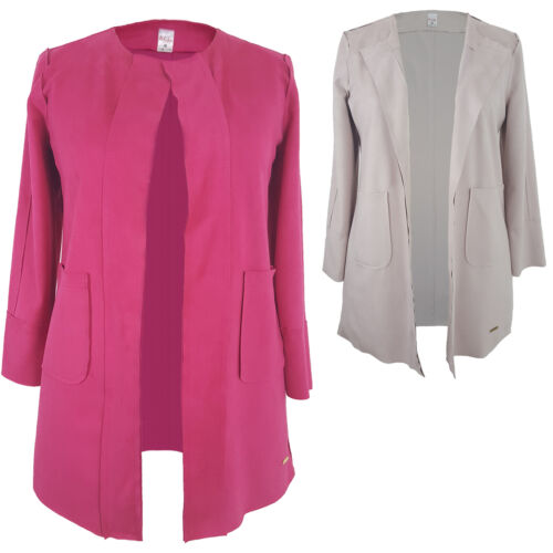 Womens Ladies Faux Suede Trench Coat Jacket Cape Nude Pink Beige Size 8 10 14 16