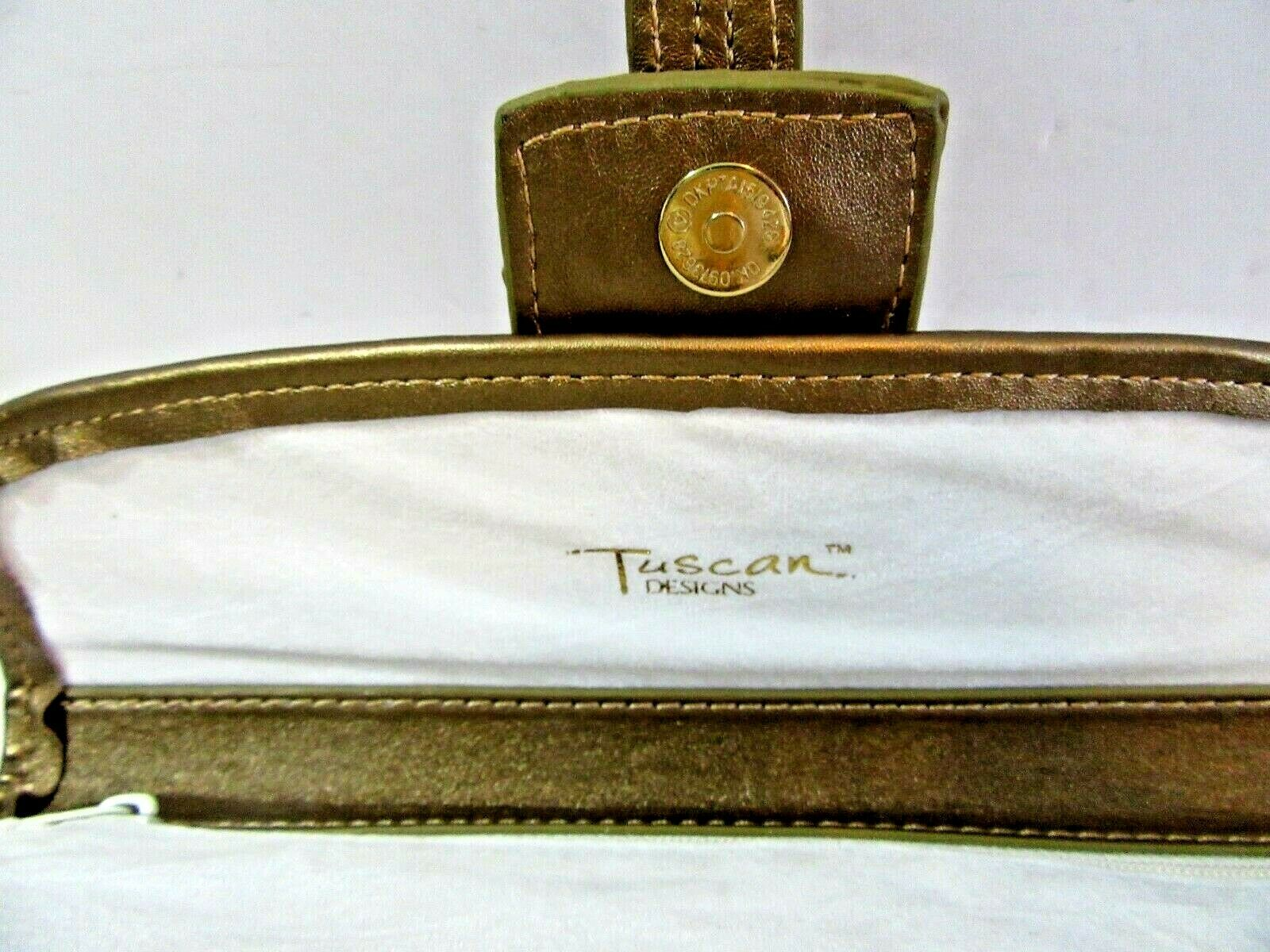 TUSCAN DESIGNS CLUTCH CARRY ALL PURSE BAG WHITE A… - image 3