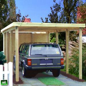 Carport-3x6-m-Holz-Bausatz-11-11-cm-Stuetzen-Schneelast-bis-200-Kg-qm-moeglich