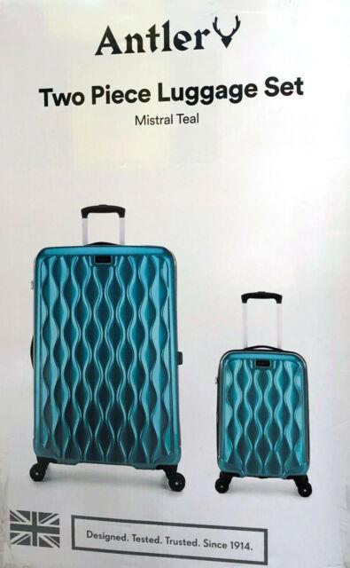 2 Piece Antler Hardside Spinner Suitcase Luggage Set Mistral Teal Brand New