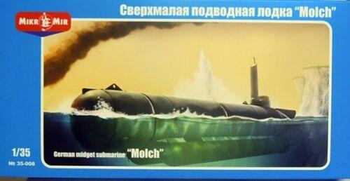 """Mikro-Mir 1:35 Plastik Deutsches Kleinst-U-Boot /"""" Molch/"""" Ätzteile NEU !"""