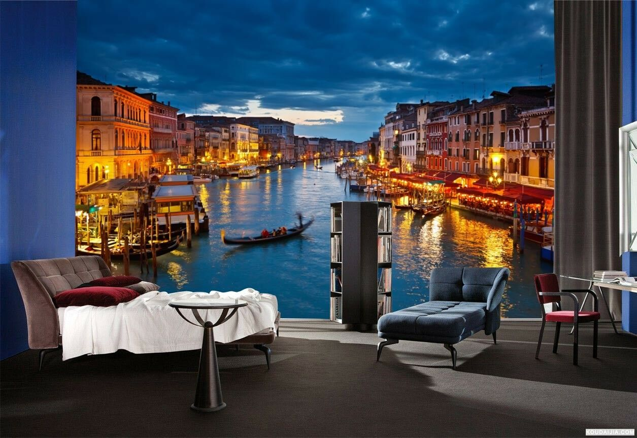 3D Venice  Night  89 Wall Paper Murals Wall Print Wall Wallpaper Mural AU Summer
