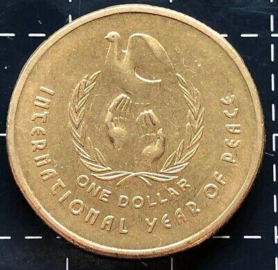 AUSTRALIA 1 DOLLAR 1986 YEAR O PEACE COMMEMORATIVE