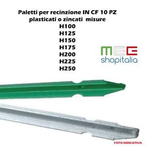 PALETTO PALETTI PER RECINZIONI A T IN ACCIAIO PLASTIFICATO VERDE H MT.2,25 PZ.10
