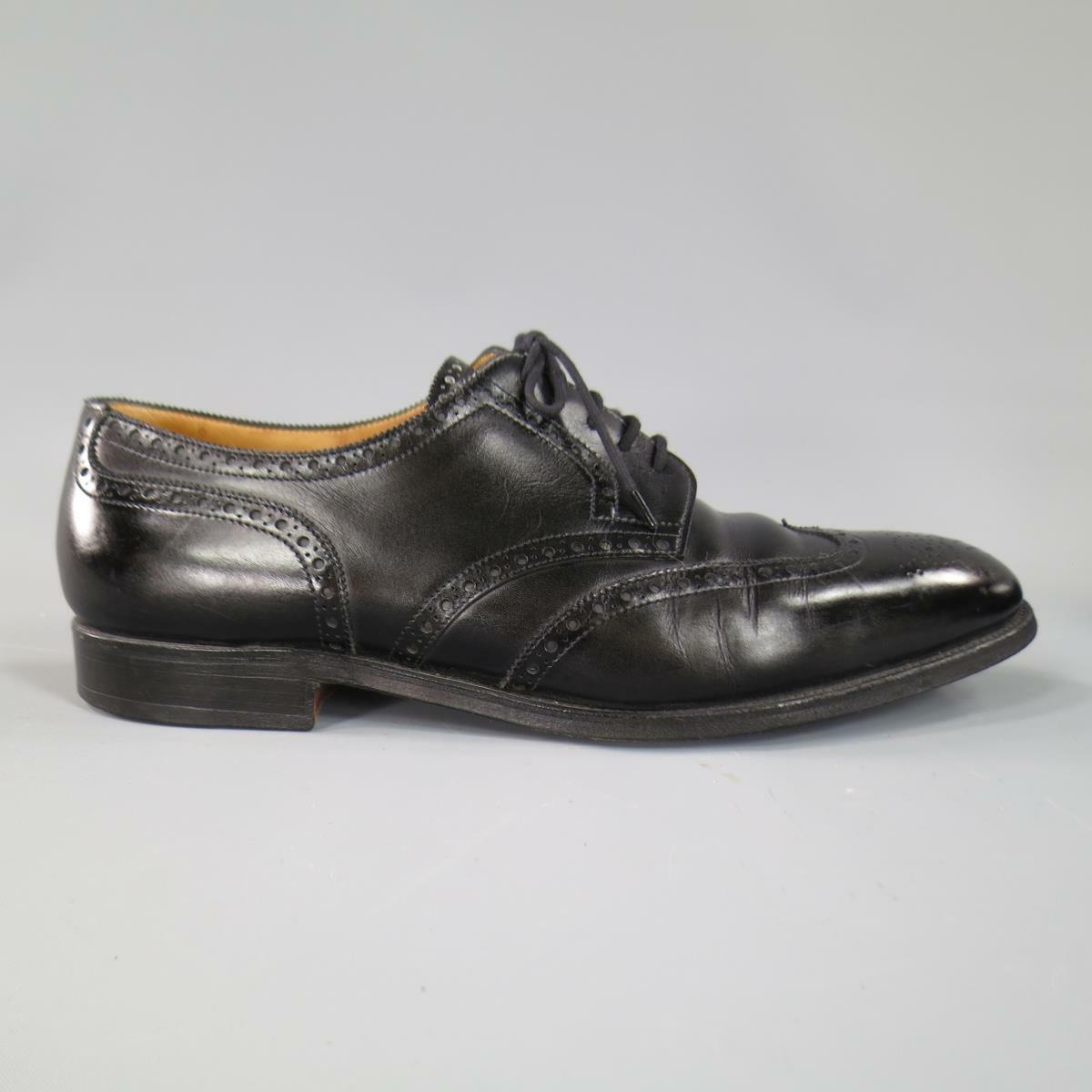 grandi offerte JOHN LOBB -DARBY- Dimensione 10.5 10.5 10.5 nero Leather Wingtip Lace Up  ottima selezione e consegna rapida