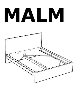 Ikea Malm High Bed Frame Replacement Hardware Set For Assembly New Ebay