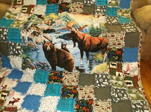 Northwoods-Rustic-Quilt-Very-Large-and-Heavy-Super-Warm-Like-weighted-blanket