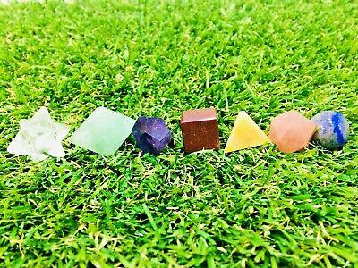 7 Pcs Amethyst Sacred Vastu Geometric Set For Healing Energy