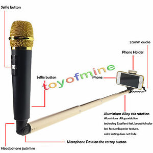 iphone karaoke microphone new microphone selfie stick with mic voice for android 1159