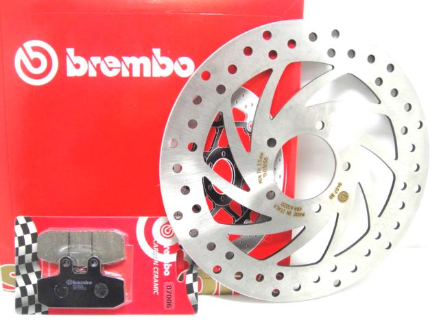 68B407B0 SET BRAKE DISC BREMBO FRONT + PADS APRILIA SCARABEO 125 2000