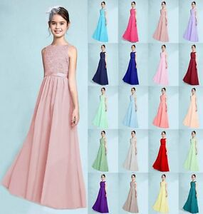 Image Is Loading New Prom Lace Junior Flower Dress Wedding