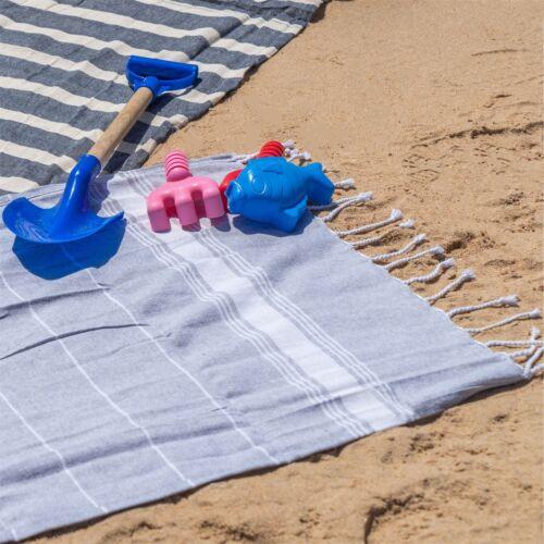 Enfants serviette 100/% coton turc plage de bain Piscine Hammam Peshtemal Gris