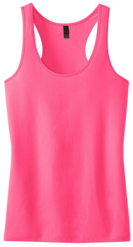DT237 District Juniors Sleeveless Semi Fitted Cami Racerback Tank Top XS-4XL