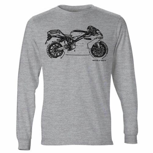 JL Illustration For A Ducati 999 Motorbike Fan LS-Tshirt